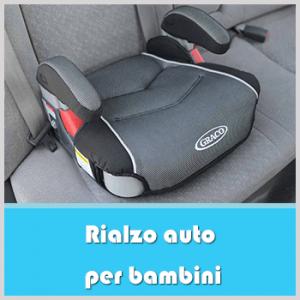 rialzo auto per bambini