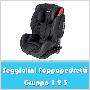taille 1//2//3 Gris fa0036 as Foppapedretti Re-klino siège auto 9-36 kg